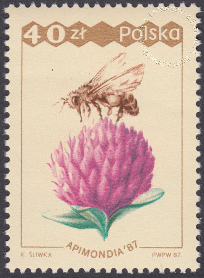 XXXI Międzynarodowy kongres Pszczelarski Apinodia 87 znaczek nr 2962