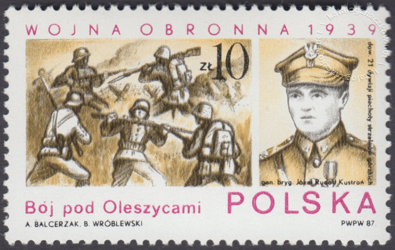 Wojna obronna 1939 znaczek nr 2966