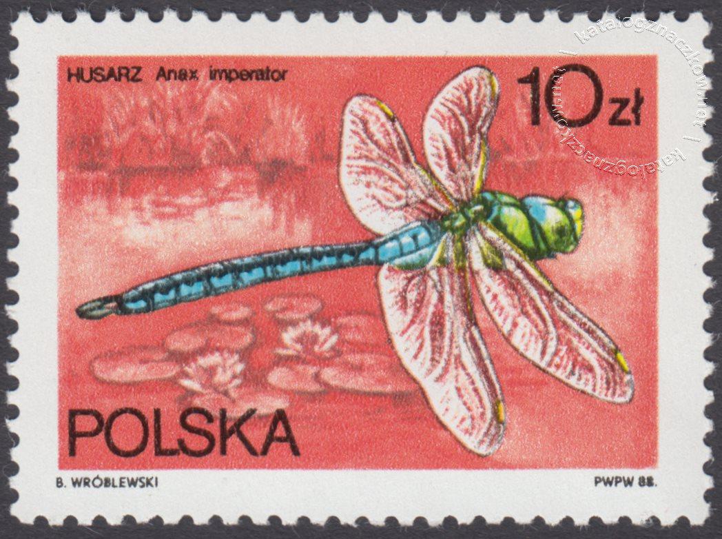 Ważki polskie znaczek nr 2986