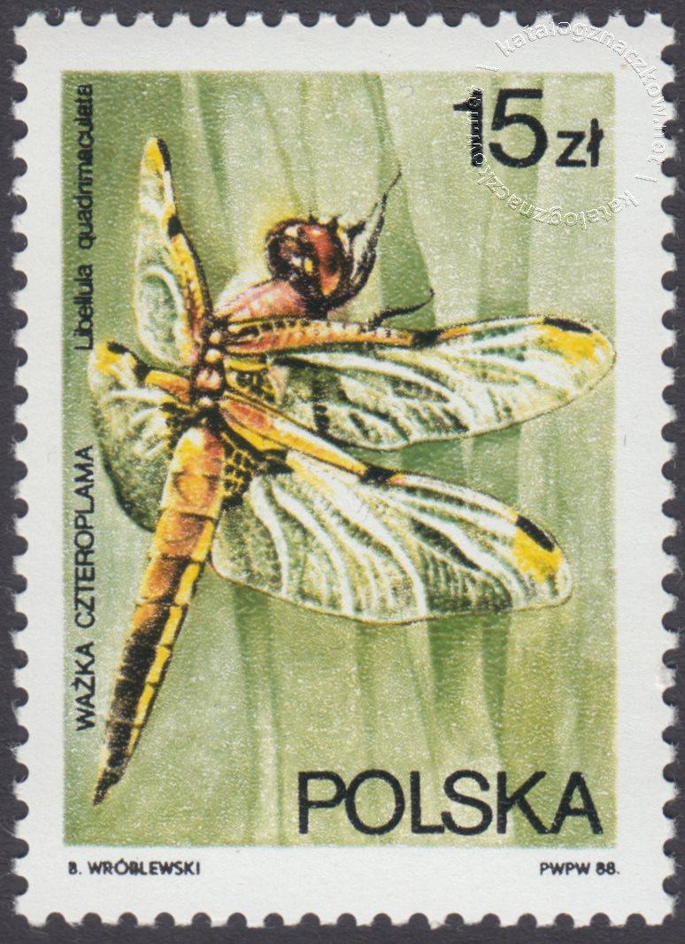 Ważki polskie znaczek nr 2987