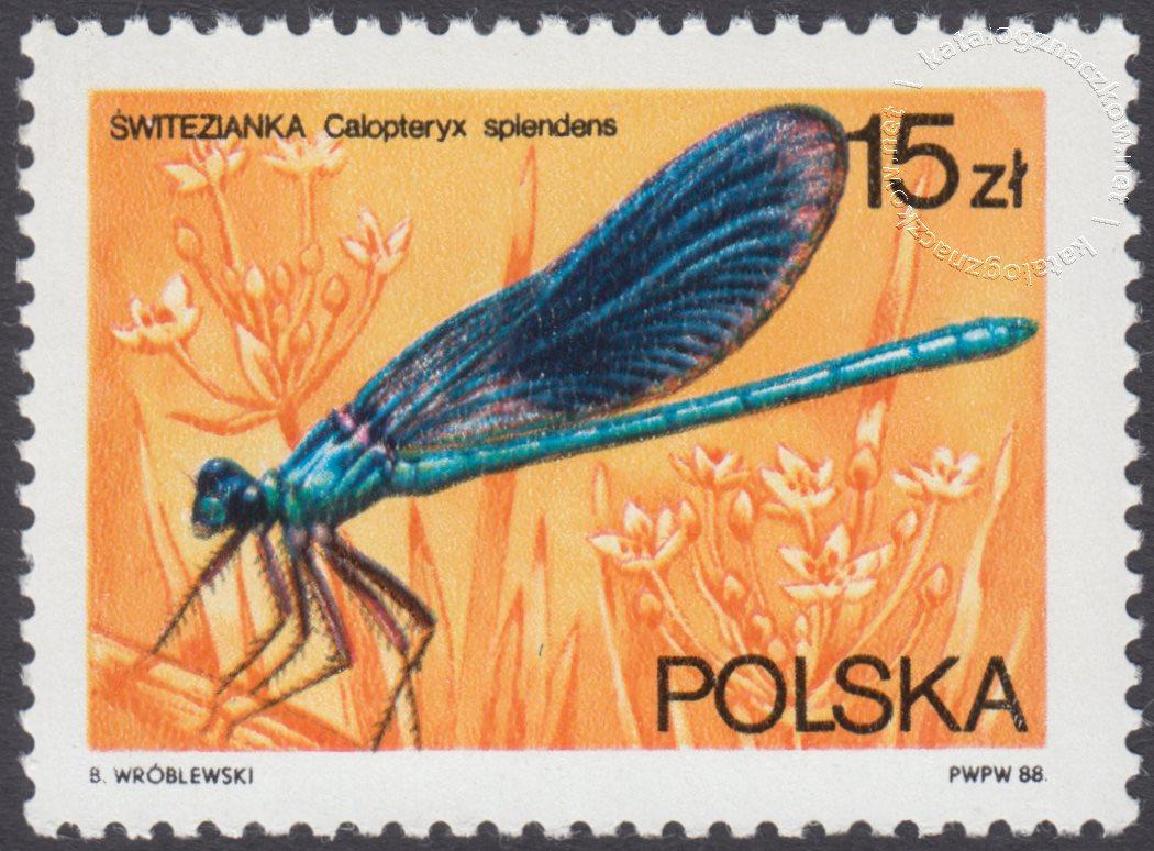Ważki polskie znaczek nr 2988
