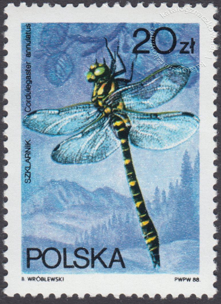 Ważki polskie znaczek nr 2989