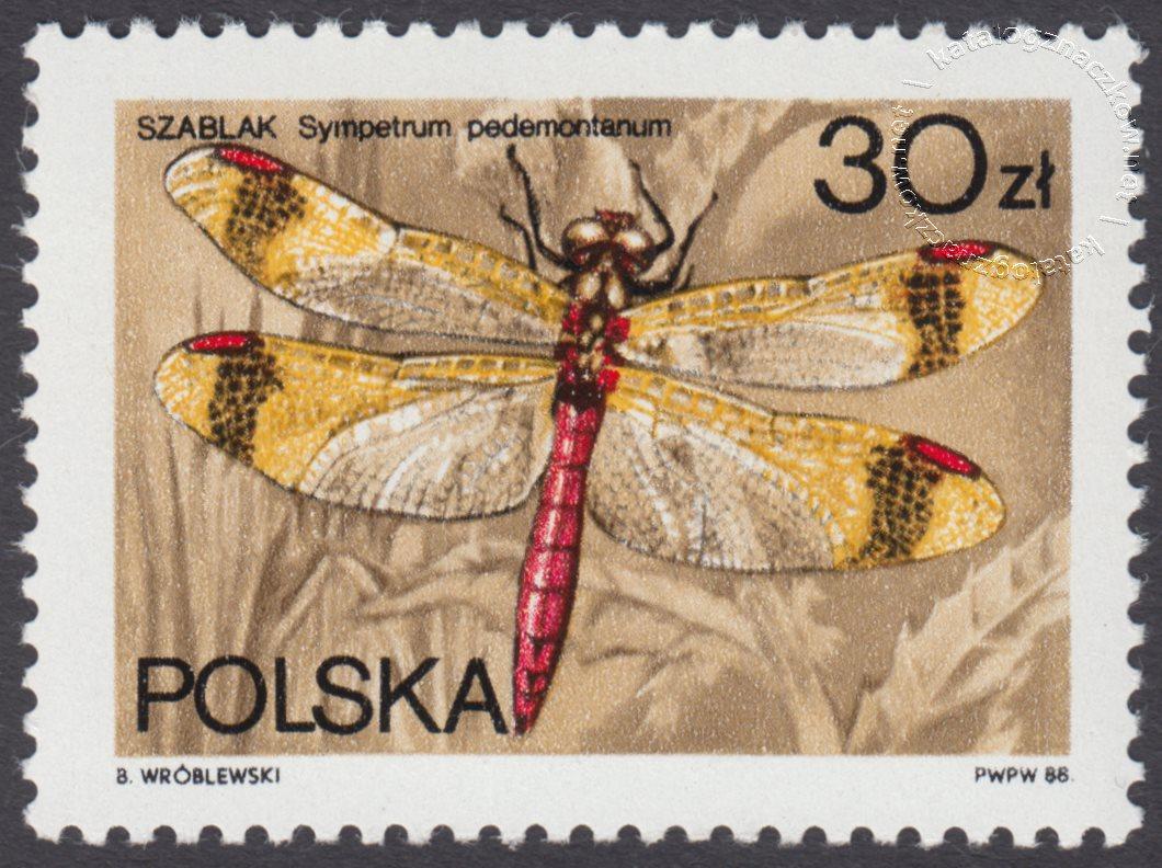 Ważki polskie znaczek nr 2990