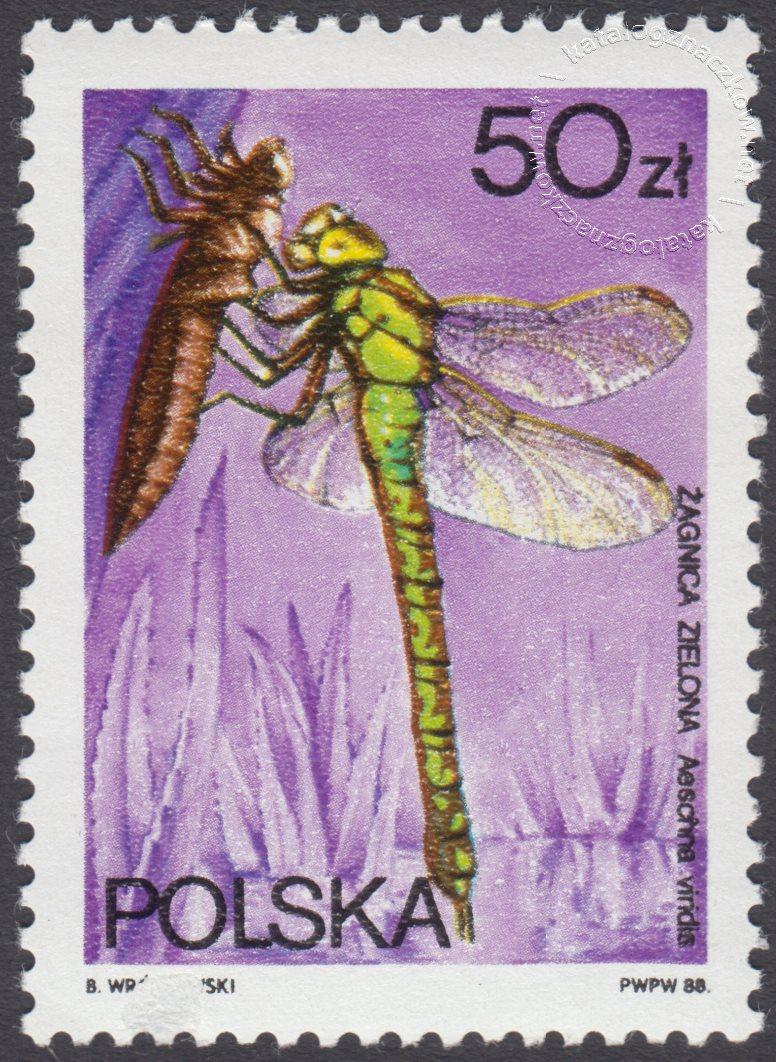Ważki polskie znaczek nr 2991