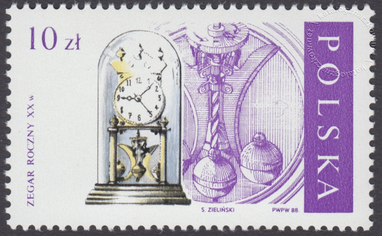 Stare zegary znaczek nr 2994