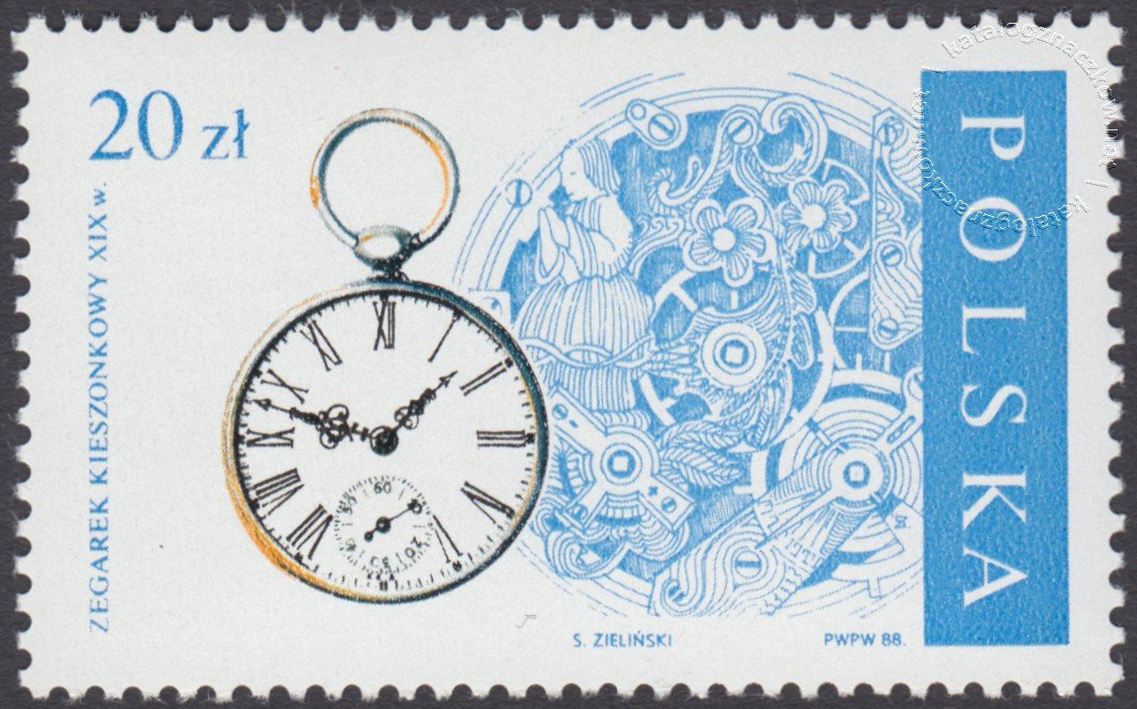 Stare zegary znaczki nr 2998