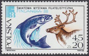 Światowa Wystawa Filatelistyczna Finlandia 88 - 3000