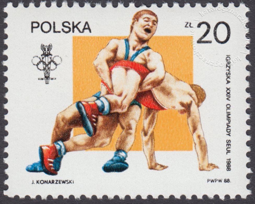 XXIV Igrzyska Olimpijskie w Seulu znaczek nr 3002