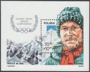Srebrny medal Orderu Olimpijskiego dla Jerzego Kukuczki - Blok 92
