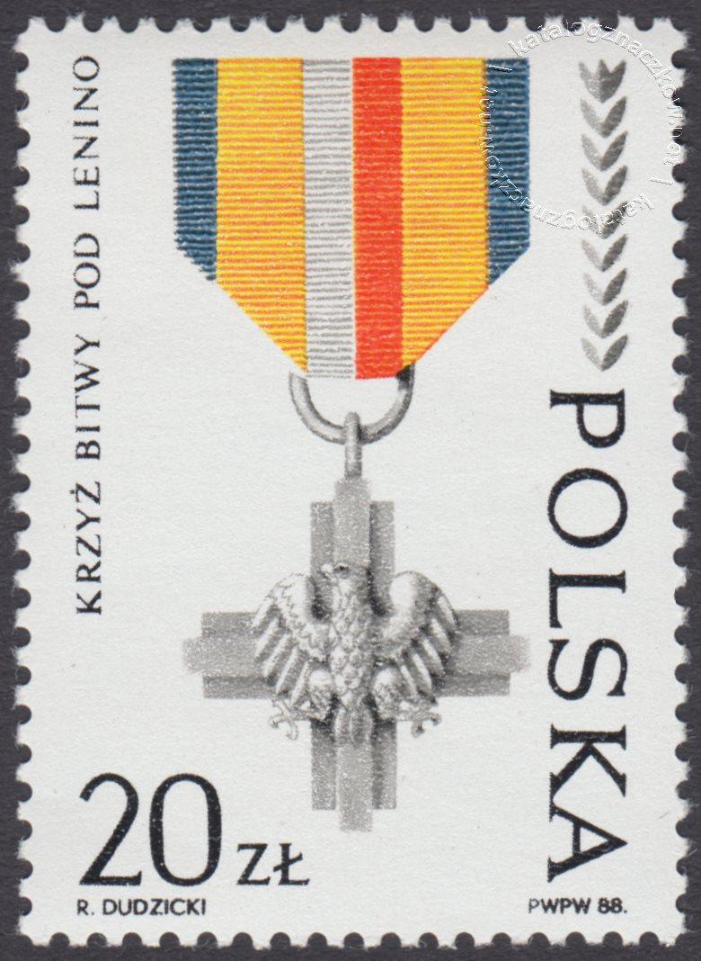 45 rocznica powstania Ludowego Wojska Polskiego znaczek nr 3018