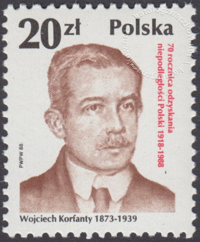 70 rocznica odzyskania niepodległości Polski znaczek nr 3025
