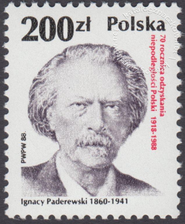 70 rocznica odzyskania niepodległości Polski znaczek nr 3026