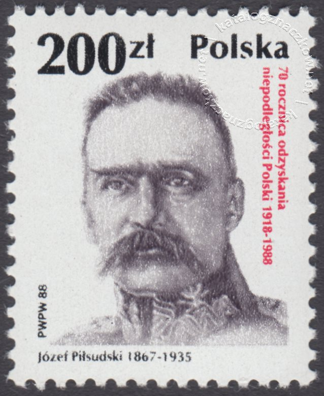 70 rocznica odzyskania niepodległości Polski znaczek nr 3027