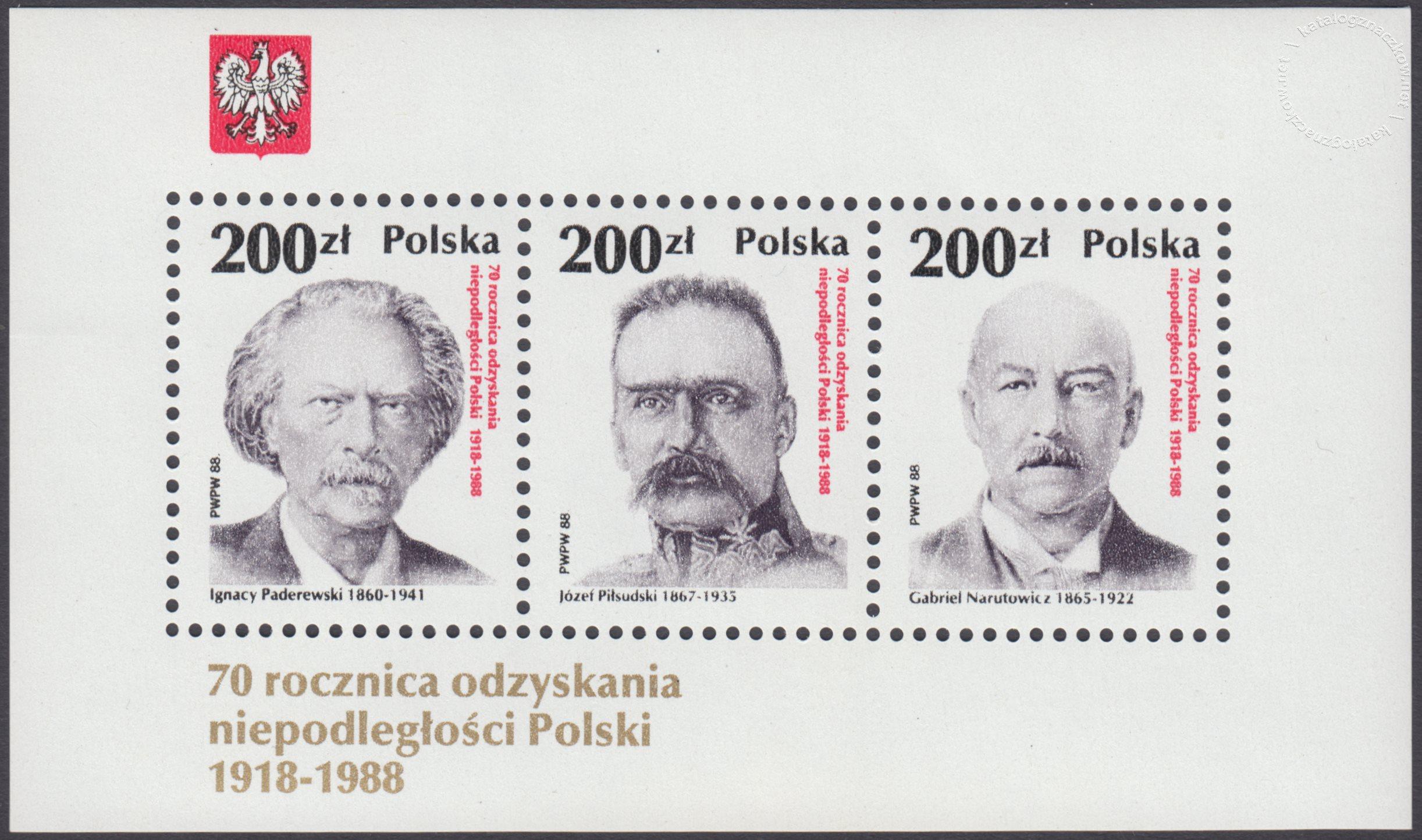 70 rocznica odzyskania niepodległości Polski 1918-1988 – Blok 93