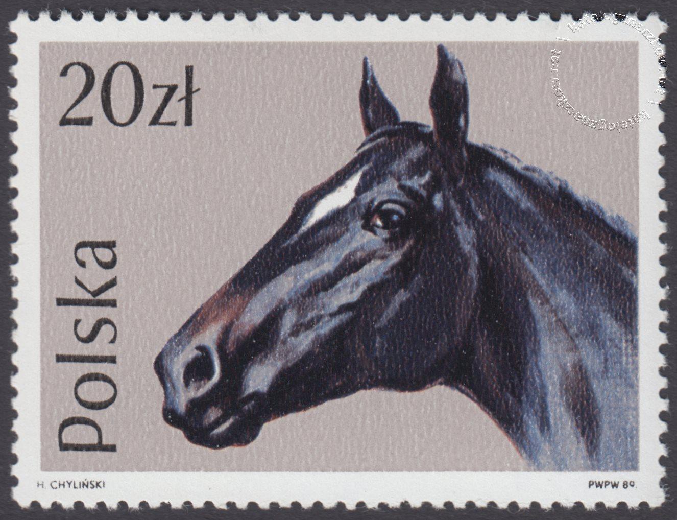 Konie znaczek nr 3044