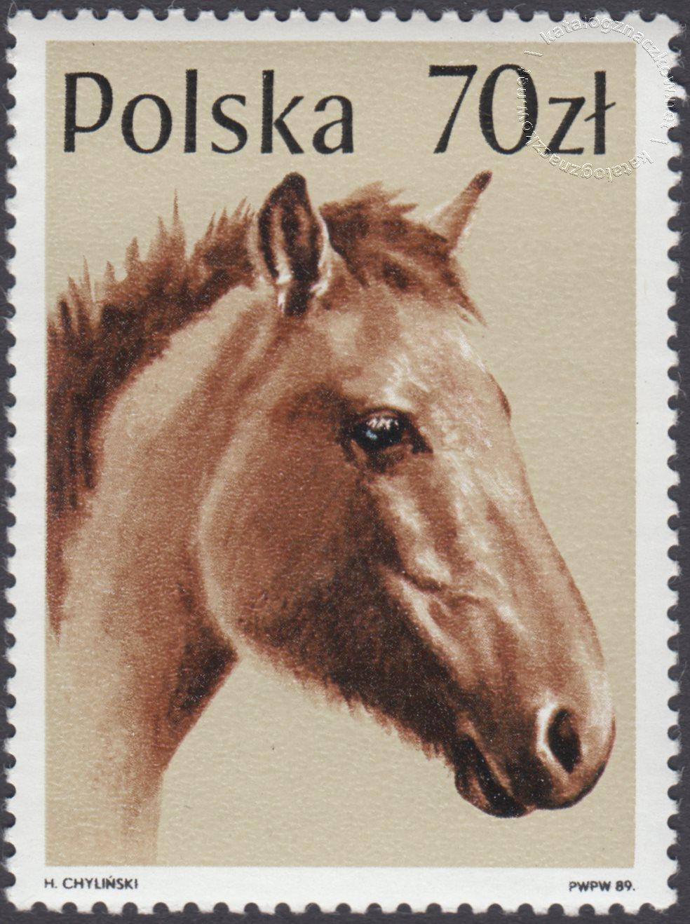 Konie znaczek nr 3047