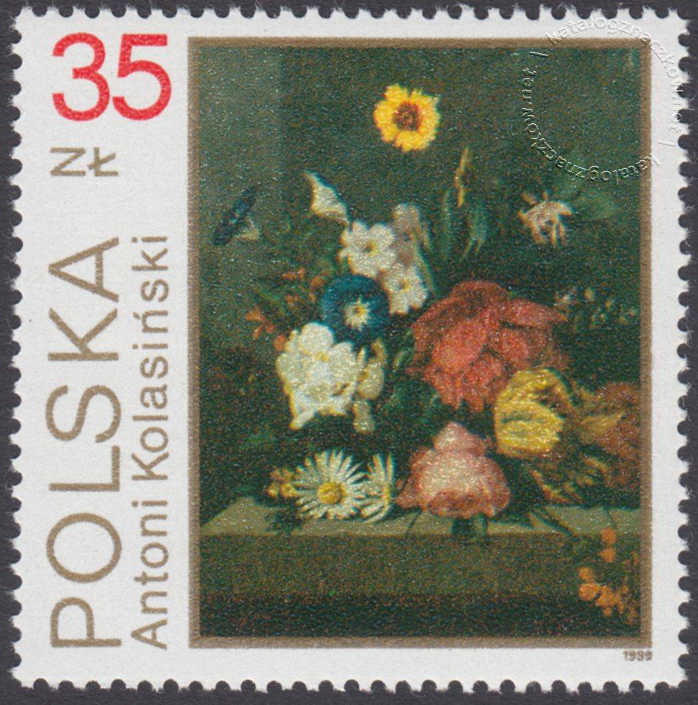 Kwiaty w malarstwie polskim znaczek nr 3091