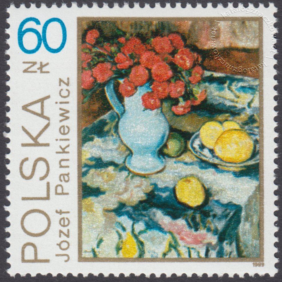 Kwiaty w malarstwie polskim znaczek nr 3093