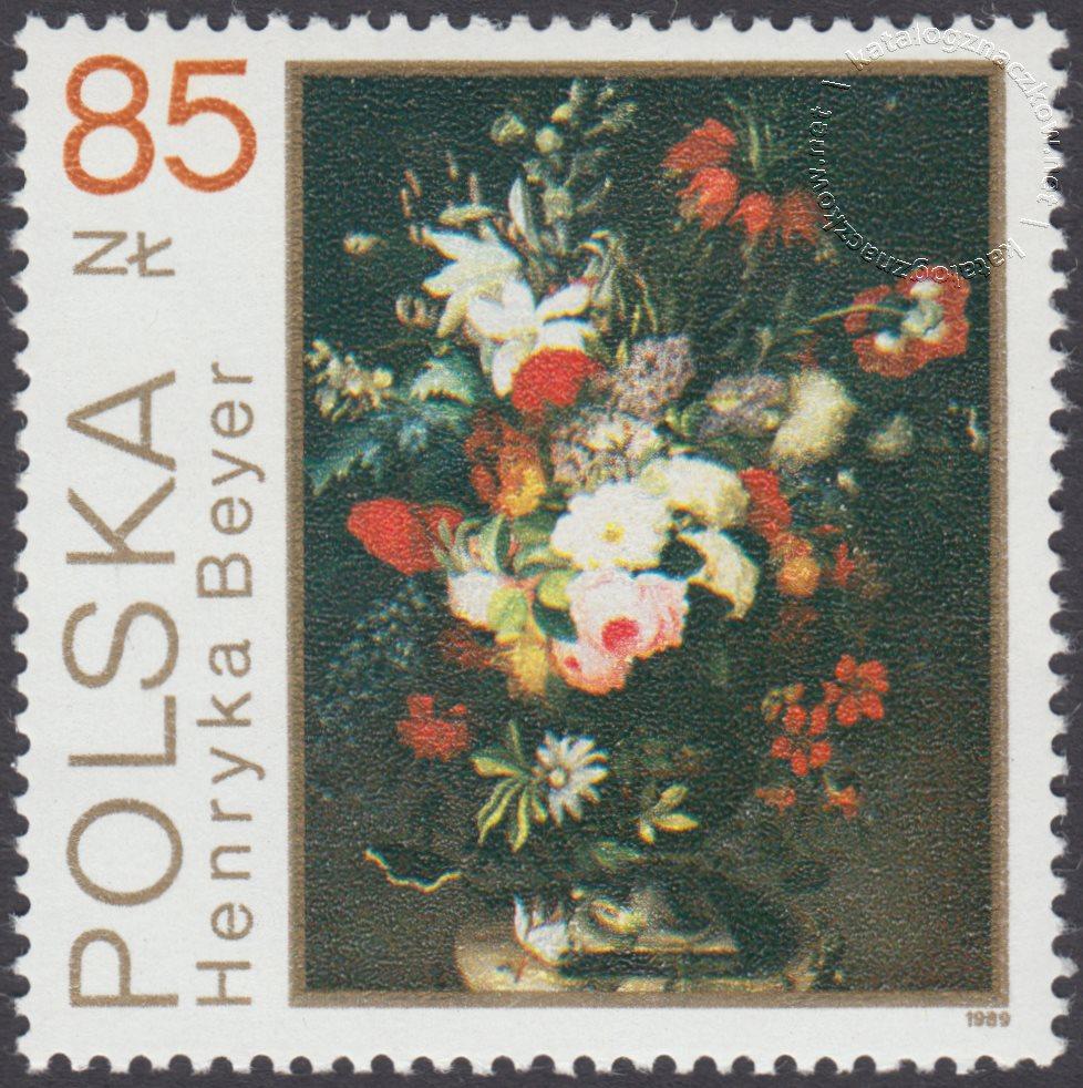 Kwiaty w malarstwie polskim znaczek nr 3094