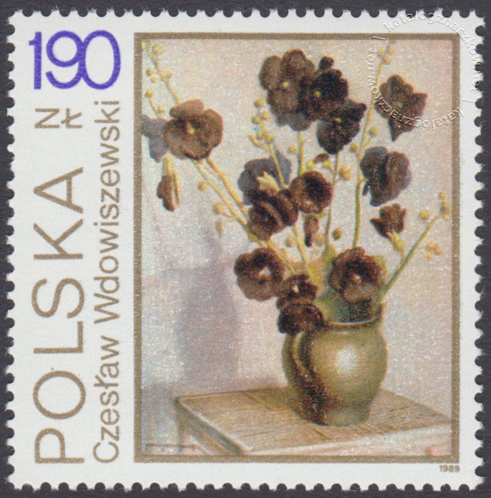 Kwiaty w malarstwie polskim znaczek nr 3096