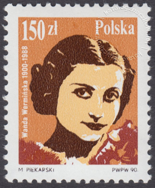 Słynni polscy śpiewacy znaczek nr 3107