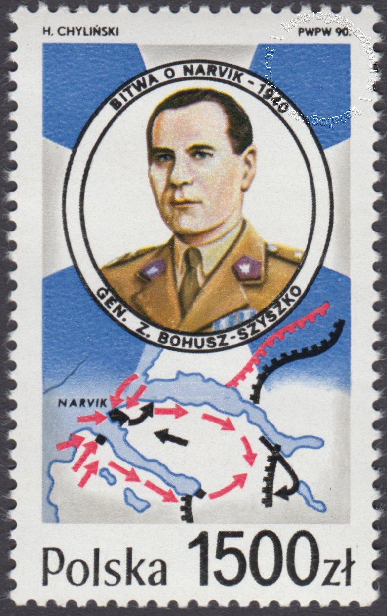 50 rocznica bitwy o Narvik znaczek nr 3119