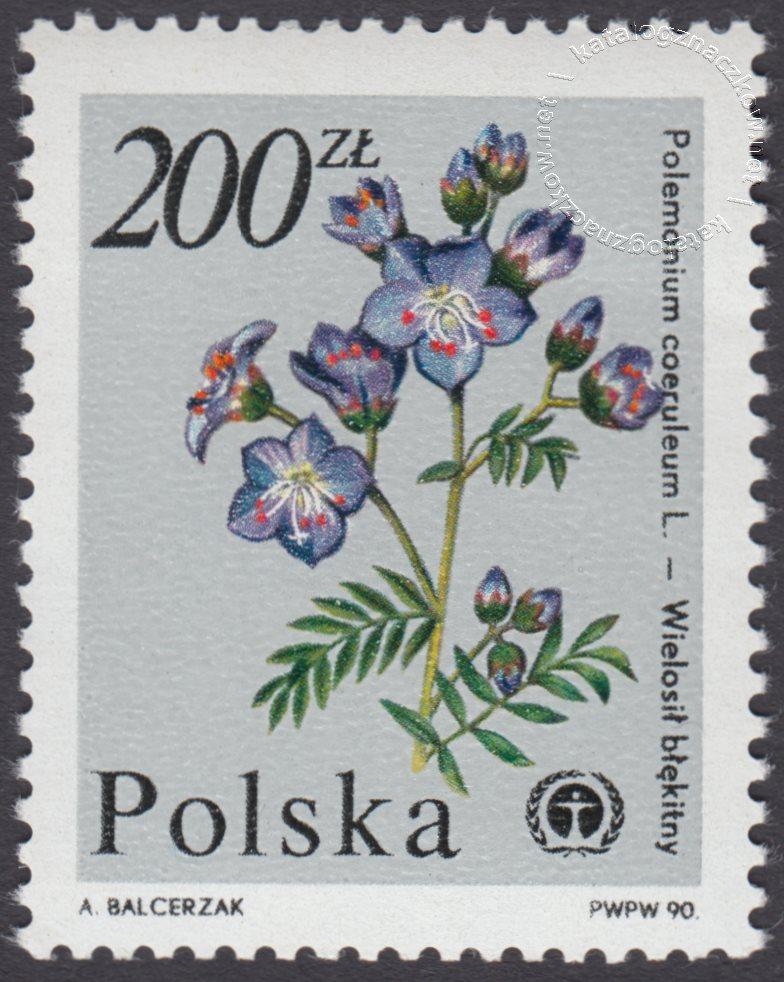 Rośliny ginące w Polsce znaczek nr 3134