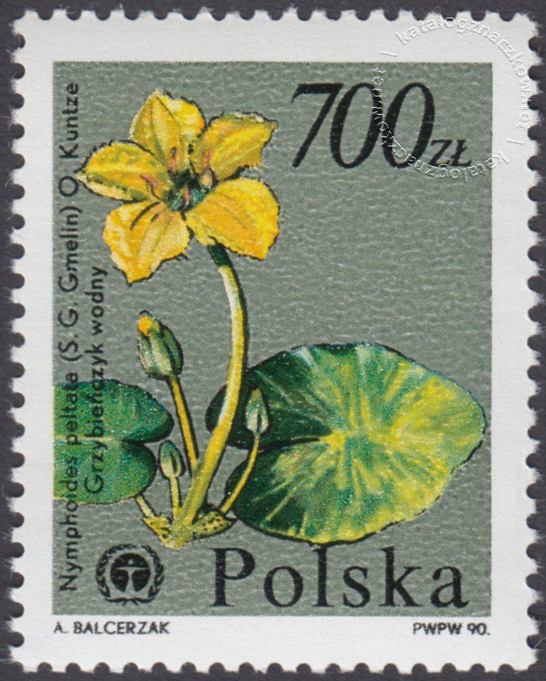 Rośliny ginące w Polsce znaczek nr 3136