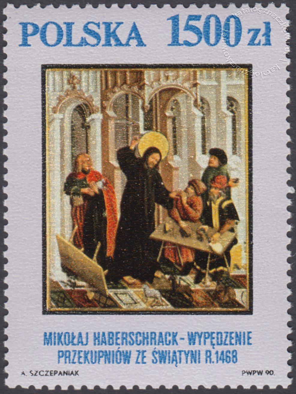 Arcydzieła ze zbiorów Muzeum Narodowego w Krakowie znaczek nr 3161