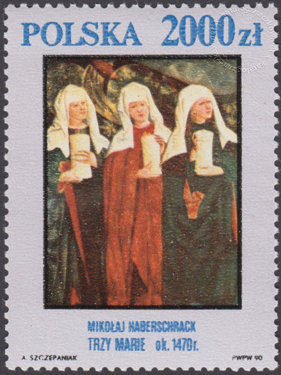 Arcydzieła ze zbiorów Muzeum Narodowego w Krakowie znaczek nr 3163