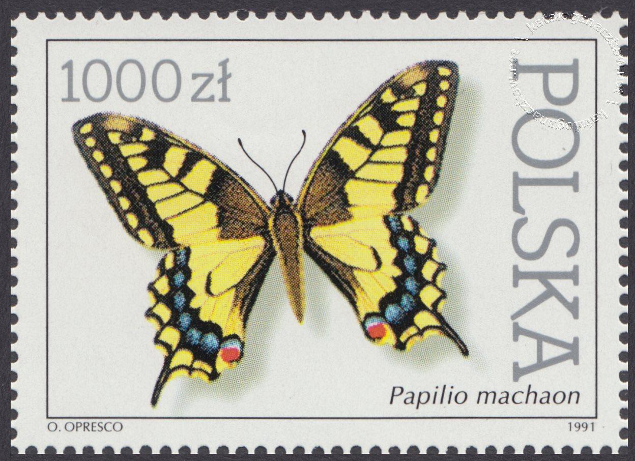 Motyle z kolekcji Instytutu Zoologii PAN w Warszawie znaczek nr 3195
