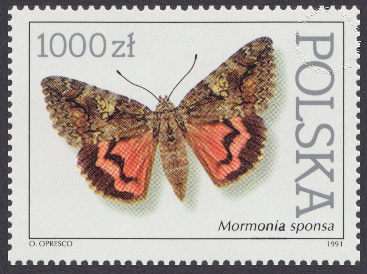 Motyle z kolekcji Instytutu Zoologii PAN w Warszawie znaczek nr 3196
