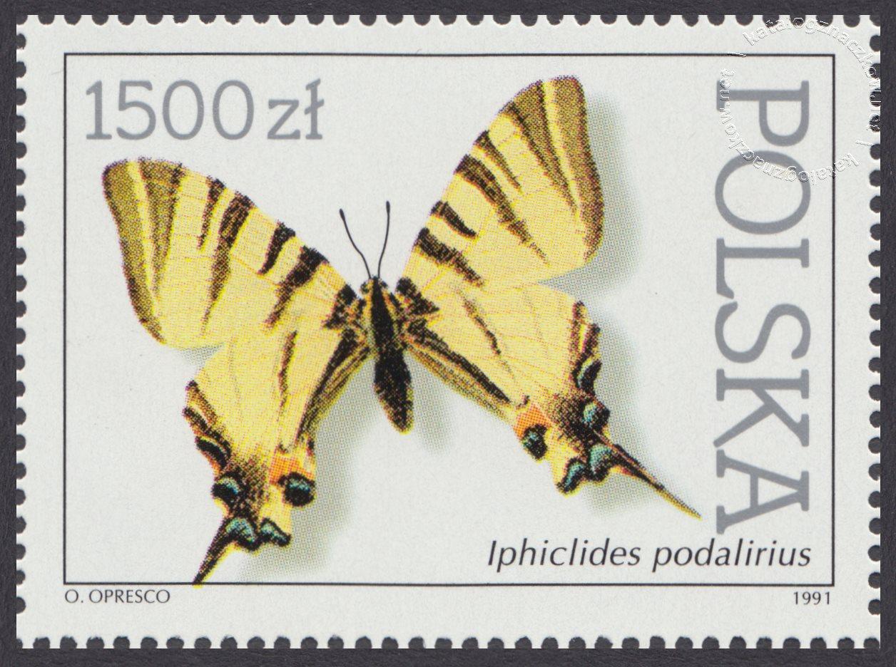 Motyle z kolekcji Instytutu Zoologii PAN w Warszawie znaczek nr 3198
