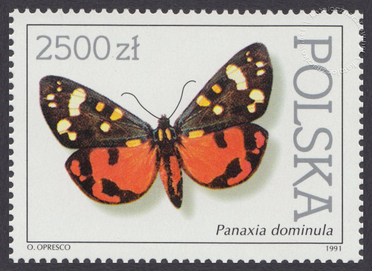 Motyle z kolekcji Instytutu Zoologii PAN w Warszawie znaczek nr 3199