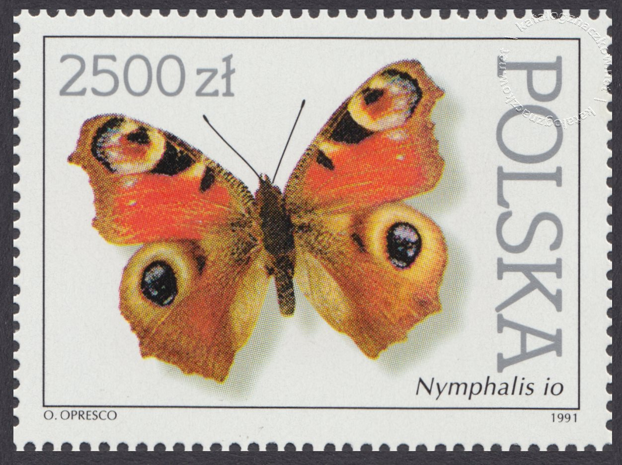 Motyle z kolekcji Instytutu Zoologii PAN w Warszawie znaczek nr 3200