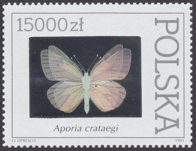 Motyle z kolekcji Instytutu Zoologii PAN w Warszawie znaczek nr 3201