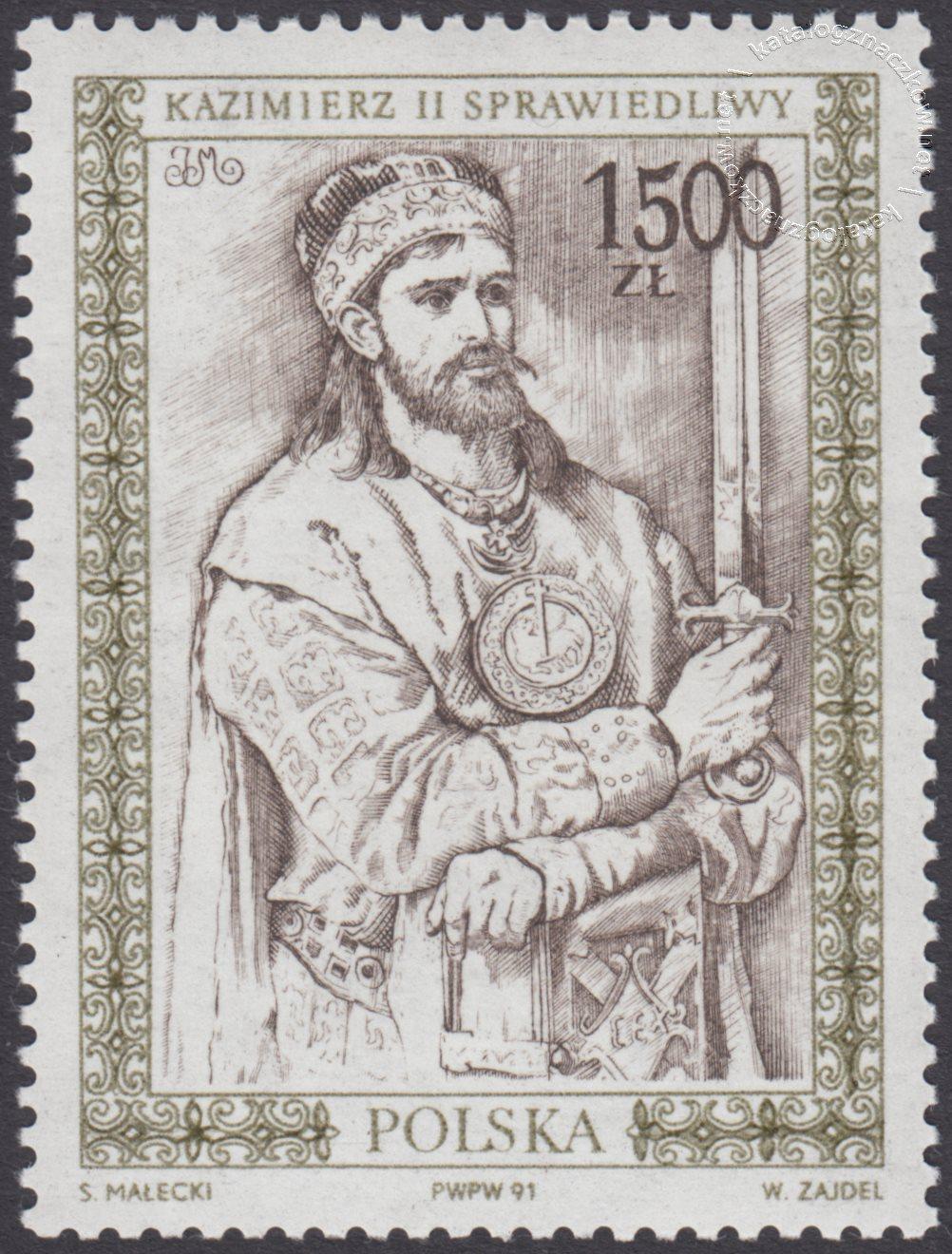 Poczet królów i książąt polskich znaczek nr 3213