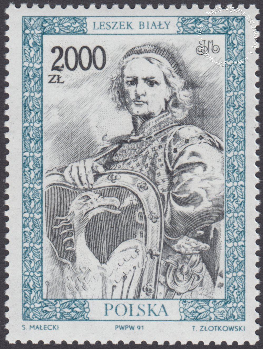 Poczet królów i książąt polskich znaczek nr 3214