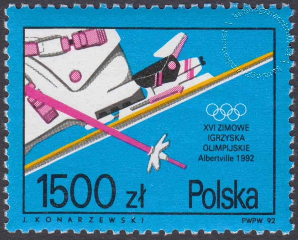 XVI Zimowe Igrzyska Olimpijskie w Albertville znaczek nr 3221