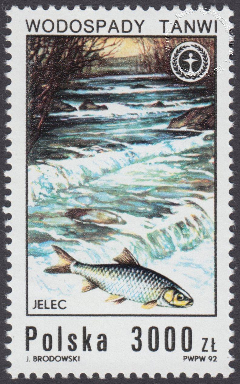 Wodospady polskie znaczek nr 3233