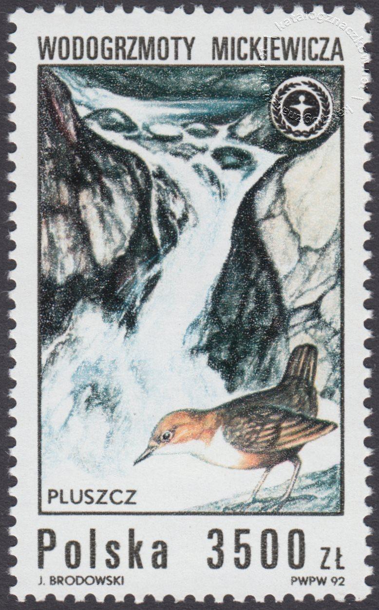 Wodospady polskie znaczek nr 3234