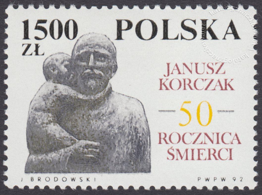50 rocznica śmierci Janusza Korczaka znaczek nr 3245