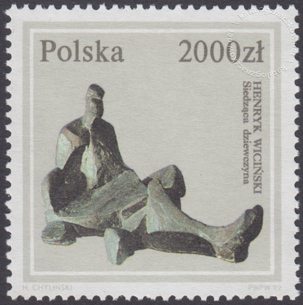Rzeźba polska ze zbiorów Muzeum Narodowego w Warszawie znaczek nr 3253