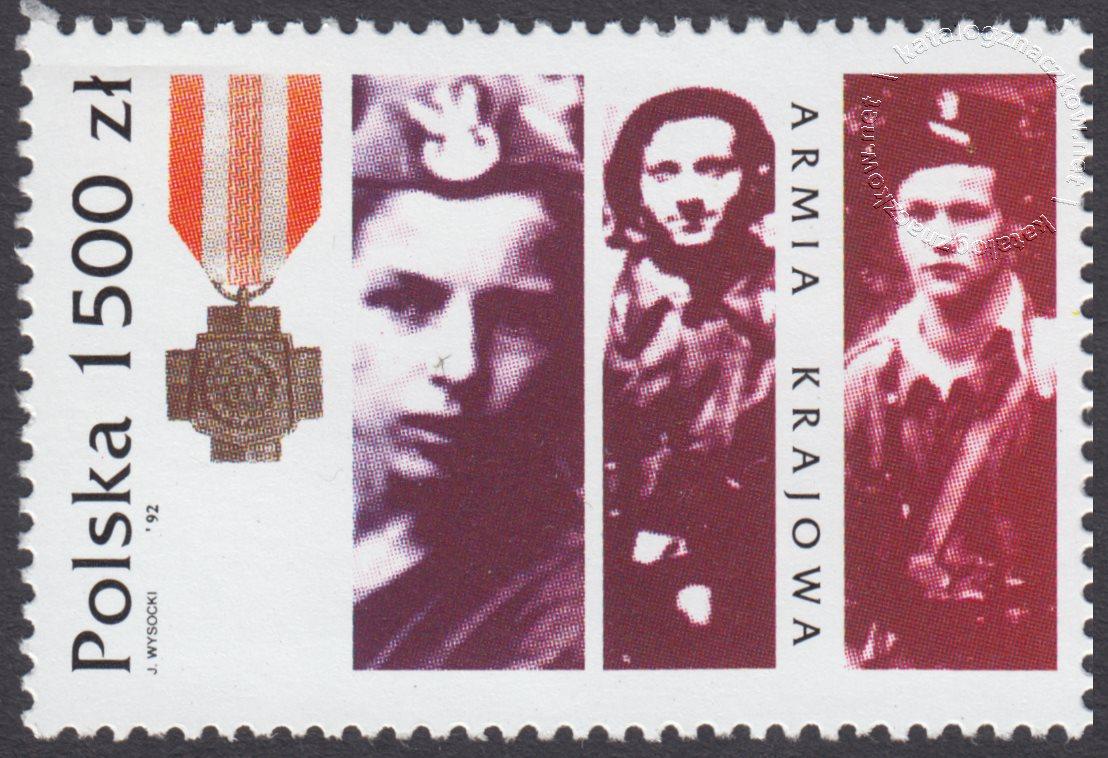 Rok historii Armii Krajowej znaczek nr 3265