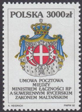Umowa pocztowa między RP a Zakonem Maltańskim - 3271