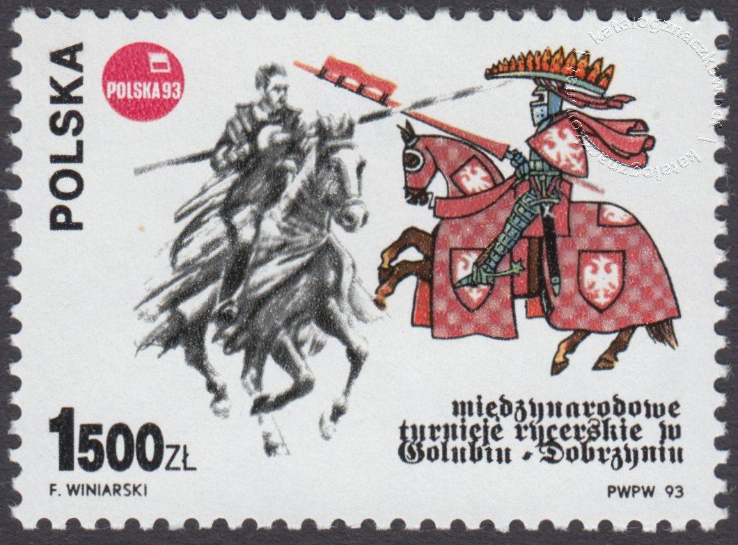 Międzynarodowe Turnieje Rycerskie w Golubiu-Dobrzyniu znaczek nr 3291