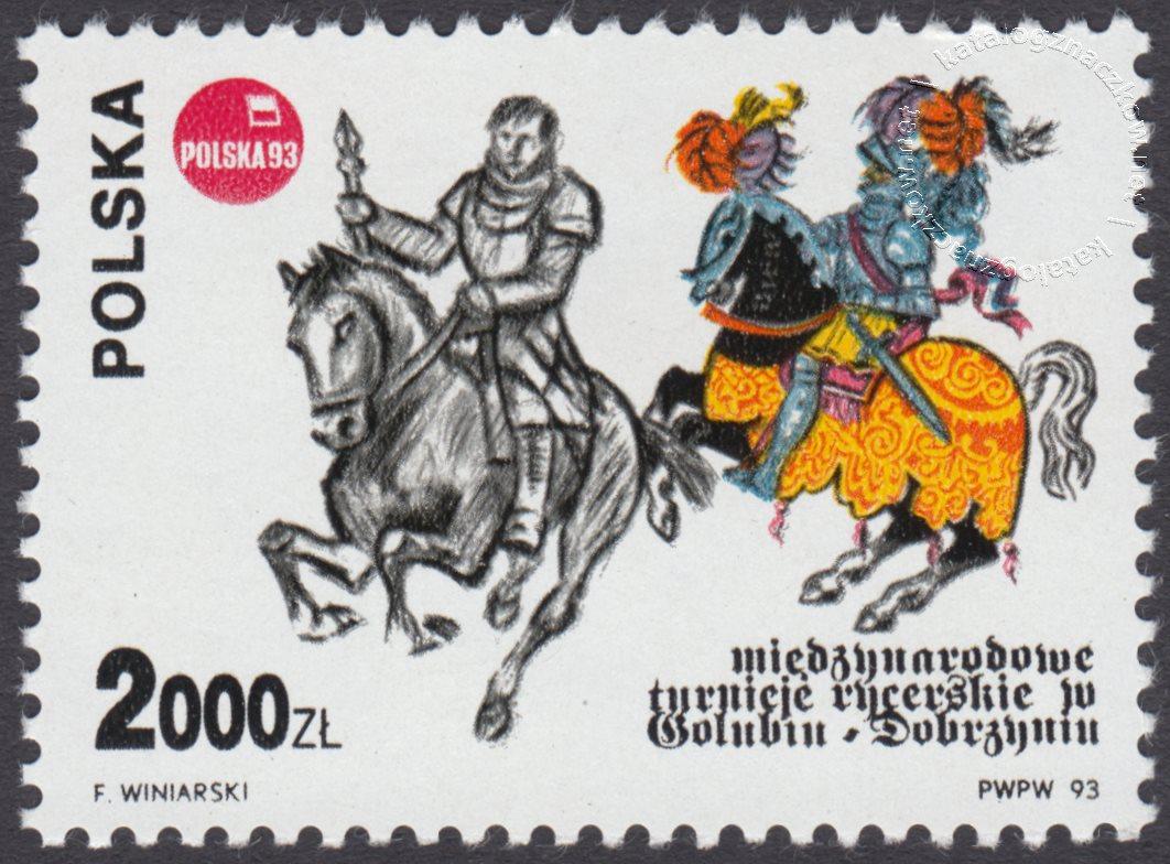 Międzynarodowe Turnieje Rycerskie w Golubiu-Dobrzyniu znaczek nr 3292