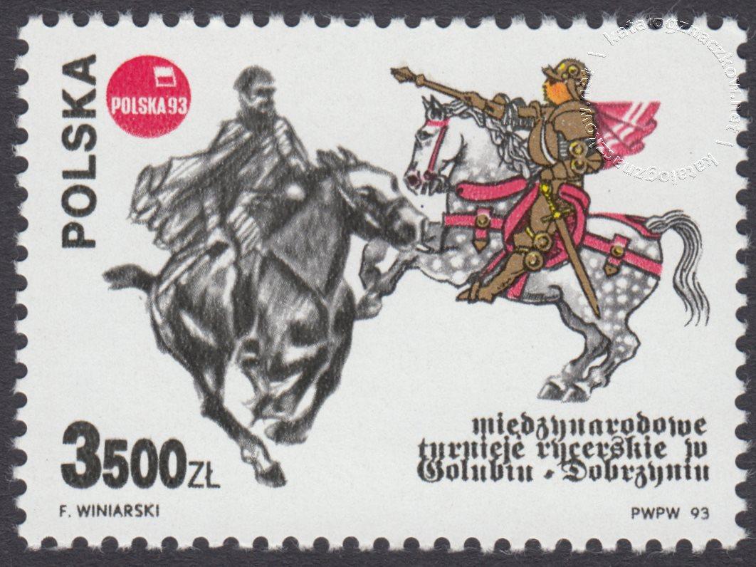 Międzynarodowe Turnieje Rycerskie w Golubiu-Dobrzyniu znaczek nr 3294