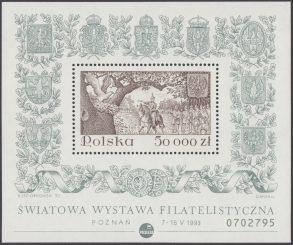 Światowa Wystawa Filatelistyczna w Poznaniu - Blok 108B