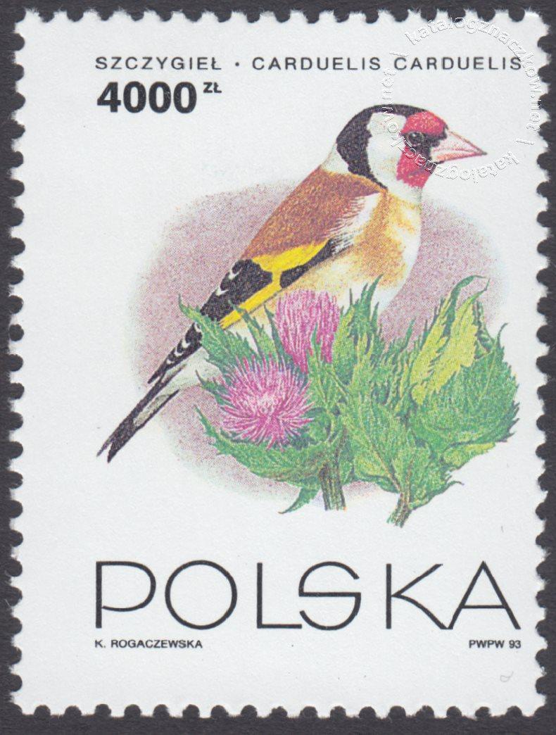 Ptaki ogrodów znaczek nr 3313